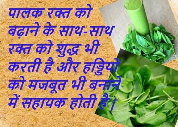 Spinach in Hindi Palak ke fayde in hindi